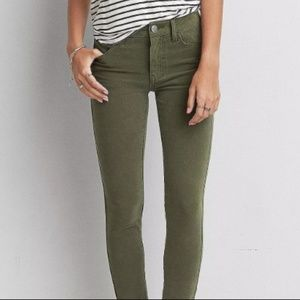 American Eagle Outfitters Pants - [American Eagle] olive jeggings